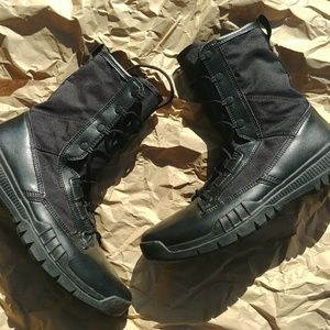 """Nike SFB 8"""" Leather Tactical Boot Black Sz 10.5"""